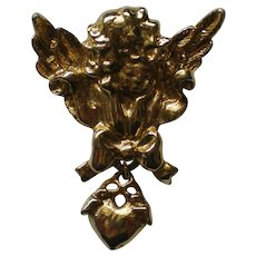 Cupid Angel with Heart Pin for Valentine's Day
