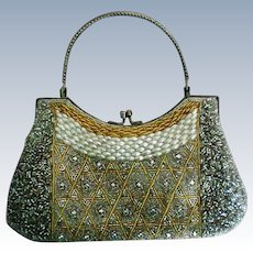Beaded and Rhinestone Evening Bag Purse
