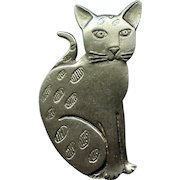 Pewter Cat Pin by MALI African Made