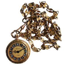 Pendant 17 Jewel Arnex Ladies Watch Necklace
