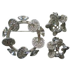 1954 Astra Brooch and Clip Earrings by Joseph Wiesner