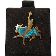 Western Bull Rider Hat, Lapel, or Tie Tack Pin