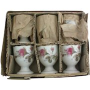 Porcelain Egg Cups – Set of 6 – Original Box