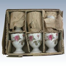 Porcelain Egg Cups – Set of 6 – Original Box