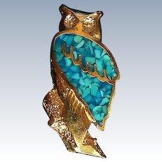 Owl Hat, Lapel or Tie Tack Pin