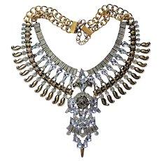 Egyptian Revival Replica Bib Necklace