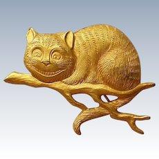 Cheshire Cat Pin marked C&C 1991