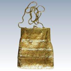 Gold Beaded Shoulder Bag from Hillard and Hanson