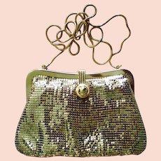 Gold Metal Mesh Evening Shoulder Bag