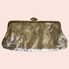 Gold tone Metal Mesh Evening Bag from W. Germany