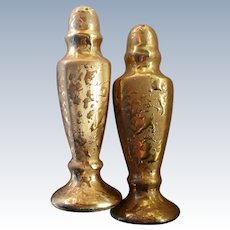22 KT Weeping Gold Salt and Pepper Shakers