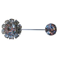 Art Deco Stick or Lapel Rhinestone Pin