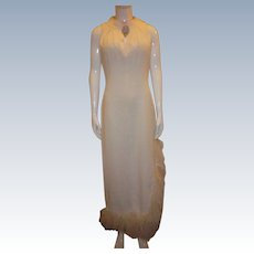 Vintage Off-White Cocktail Dress by Lee Jordan of New York
