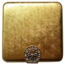 Avon Gold tone Powder Compact