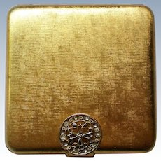 Avon Gold tone Powder Compact