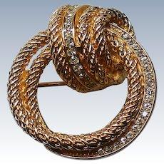 Christian Dior Swirl Brooch