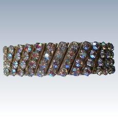 1950's Aurora Borales Rhinestone Expansion Bracelet