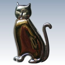 Two Tone Cat or Kitten Pin