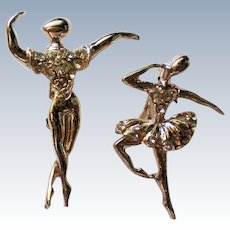 Ballet Dancer Man and Woman Scatter Pins