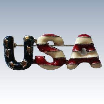 USA Stars and Stripes Pin