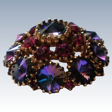 Dazzling Multi-Layered Aurora Borales Brooch