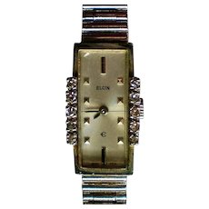 Elgin Ladies Art Deco Diamond Watch
