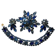 Fabulous Brooch, Earrings, and Bracelet Set