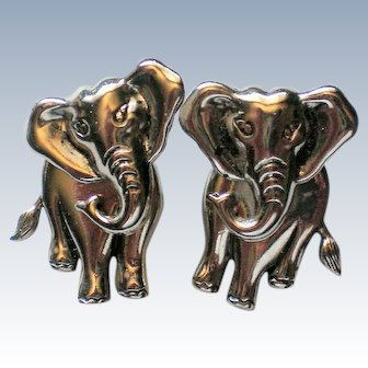 Elephant Pierced Two-Piece Earrings by AVON