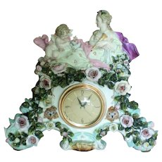 Capodimonte Porcelain Mantle Electric Clock