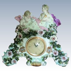 Capodimonte Porcelain Mantle Electric Clock