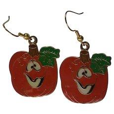 Jack-O-Lantern Dangle Earrings for Halloween