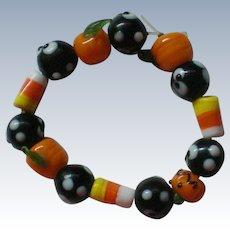 Ceramic Bead Bracelet for Halloween