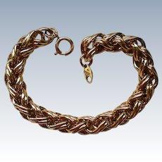 Trifari Woven Link Gold tone Rope Bracelet