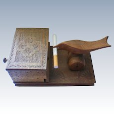 Bird and Box Mechanical Cigarette Dispenser