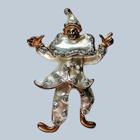 Articulated Jester Clown Pin