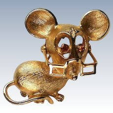 Avon Mouse Pin with Movable Glasses