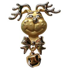 Grinch Christmas Reindeer Pin by AJC