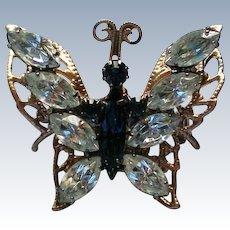Rhinestone Butterfly Brooch by S.P. LIND