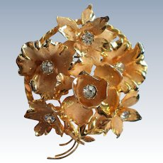Large Flower Brooch made in Austria