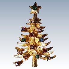 Gold tone Christmas Tree in the MYLU Style