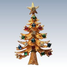 Christmas Tree with Multi-Colored Rhinestones by LJM