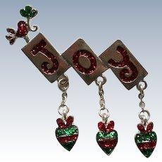 JOY Dangle Pin for Christmas Holidays