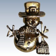 Snowman Tie Tack Pin by CAMCO