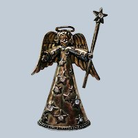 Christmas Angel with Star Staff Pin for Holidays