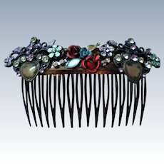 French Embellished Hair Comb