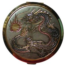 Chokin Art Dragon Facial Powder Compact