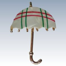 Mother of Pearl Umbrella Pin
