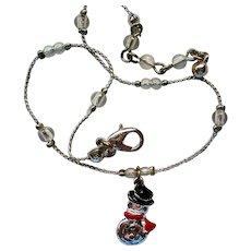 Tiny Snowman Ankle Bracelet for Winter Wear by AVON