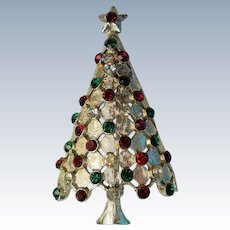 MYLU Diamond Lattice Christmas Tree Pin