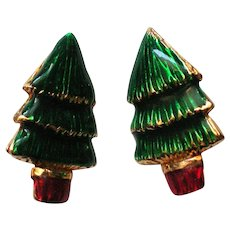 Lia Lianna Christmas Tree Clip Earrings for the Holidays